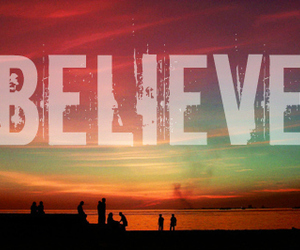 believe and sunset image