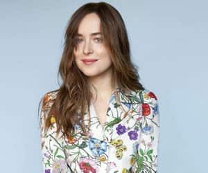 blue, dakotajohnson, and flowes image
