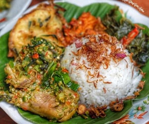 Chicken, rice, and indonesian food image