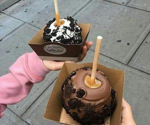 food, chocolate, and apple image