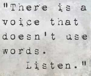 quote, listen, and voice image