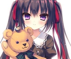 anime girl, crown, and smile image