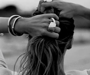 hair, girl, and rings image