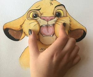 dibujos, draw, and the lion king image