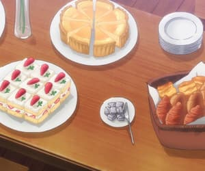 pastries and anime food image