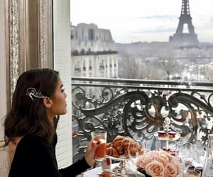 paris, breakfast, and girl image