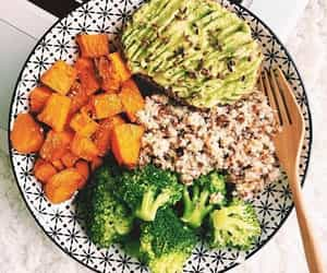 avocado, bowl, and food image