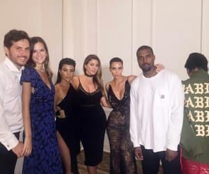 kanye, kourtney kardashian, and kim kardashian image