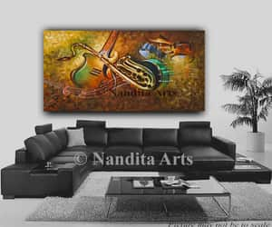 etsy, painting on canvas, and music image