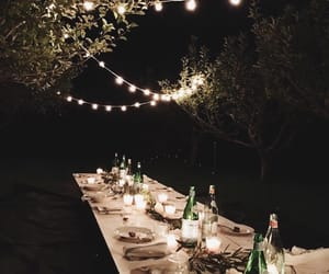 night, food, and light image