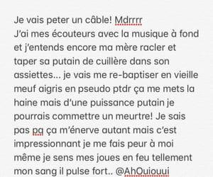 message, meuf, and énervé image