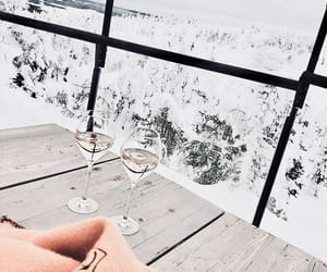 champagne, ice, and snow image