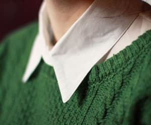 green, slytherin, and sweater image