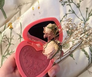 aesthetic, flowers, and makeup image