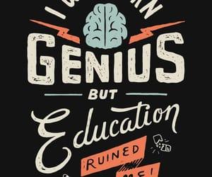 education, genius, and wallpaper image
