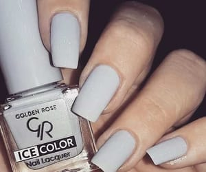 grey, gris, and nail polish image