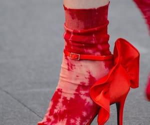 heels, runway, and red image