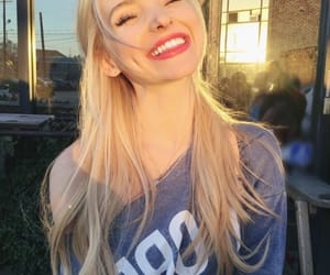 dove cameron, smile, and blonde image