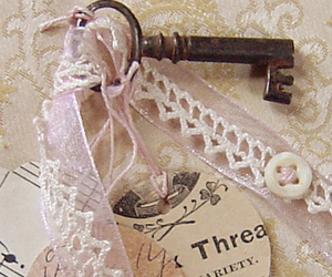button, key, and lace image