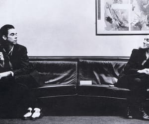 nick cave, black and white, and pj harvey image