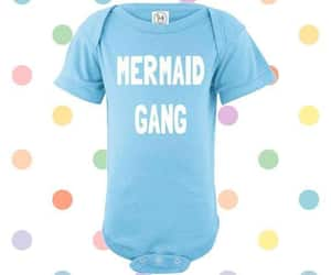 baby clothes, cute baby girl, and mermaid baby image