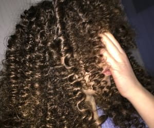 brune, curly, and haire image
