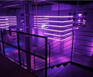 purple, light, and neon image