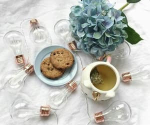 cofee, cookie, and girls image