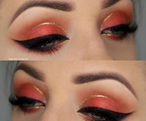 glitter, makeup, and eye-liner image