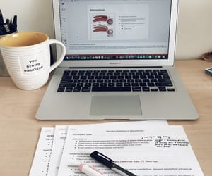coffee, college, and desk image