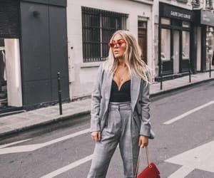 blonde, fashion, and grey image