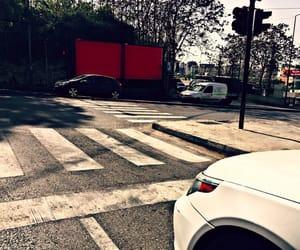 cars, crosswalk, and gloomy image
