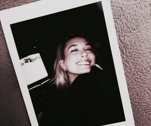 hailey baldwin, model, and polaroid image