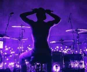 purple, twenty one pilots, and josh dun image