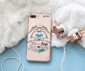 headphones, iphone, and music image
