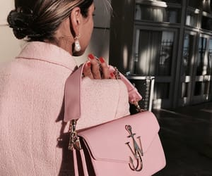 pink, bag, and chic image
