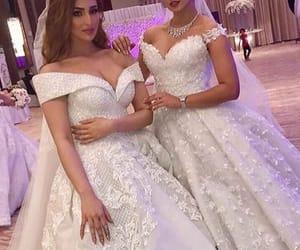 best friend, wedding, and bride image