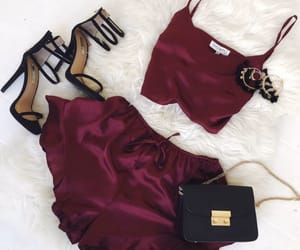 outfit, clothes, and red image