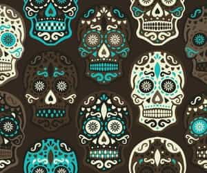 background, pattern, and skeleton image