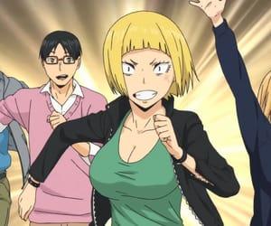 haikyuu, saeko tanaka, and yachi shimizu image