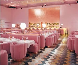 pink, restaurant, and cute image