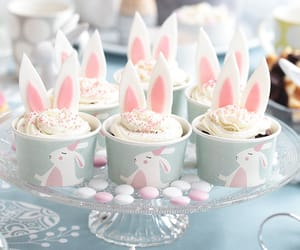 bunnies, food, and cute image