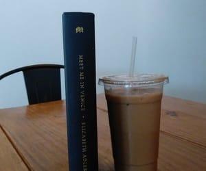 books, white mocha, and coffee image