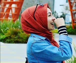 girly, happiness, and hijab image