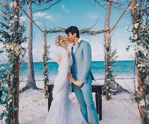 bride, marriage, and beach image