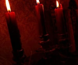 candle, fire, and red image