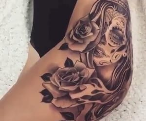 thigh tattoo image