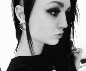 dark, goth, and side cut image