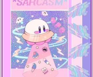 80's, kawaii, and kirby image