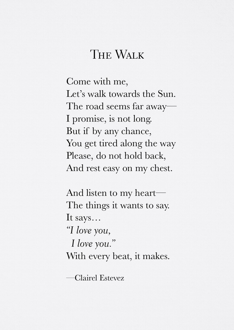 ~ The Walk ~ Poetry   Poem   Storyteller   Poet   Quotes ...